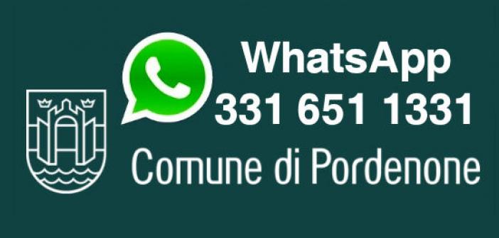 Ottimi risultati per il servizio di info via WhatsApp del Comune di Pordenone