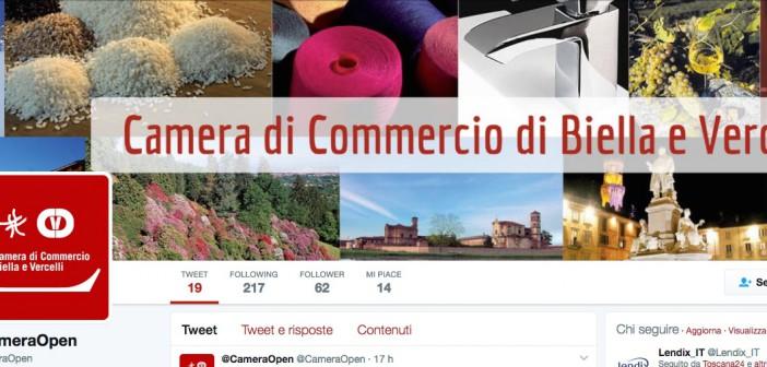 La Camera di Commercio di Biella e Vercelli sbarca su Twitter