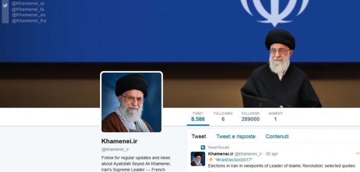 profilo twitter Ali Khamenei