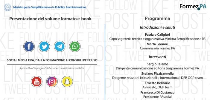"""Social media e PA, dalla formazione ai consigli per l'uso nel primo libro """"in progress"""""""