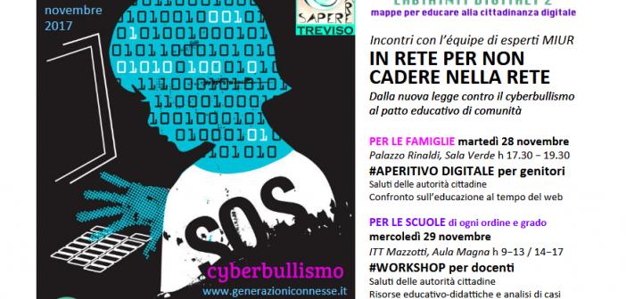 Al via a Treviso una serie di iniziative dedicate al contrasto del cyberbullismo e ai rischi del web
