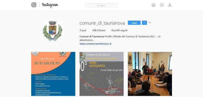 Il Comune di Taurianova si racconta su Instagram