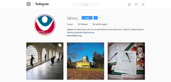 Il laboratorio di sussidiarietà Labsus si racconta su Instagram