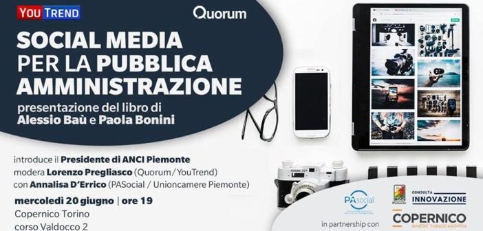 I social media per la PA: il 20 giugno la presentazione del libro di Alessio Baù e Paola Bonini