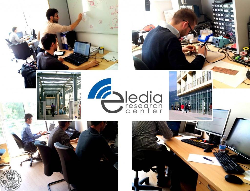 Fig. 1. Giovani ricercatori al lavoro in ELEDIA