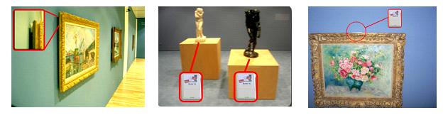 Fig.3. Esempio di installazione di dispositivi wireless per la supervisione di opere d'arte.