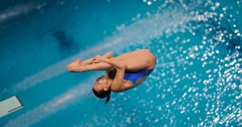 Italian Tania Cagnotto competes during t