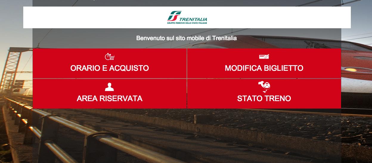Online il nuovo sito di trenitalia ottimizzato per mobile for Sito mobili online