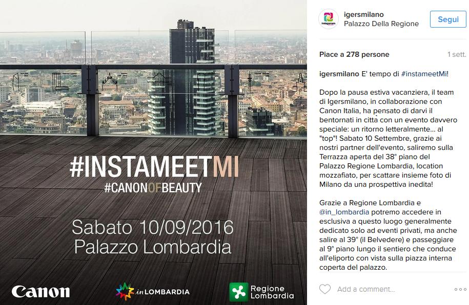 Instameet A Palazzo Lombardia Milano Da Una Prospettiva Inedita