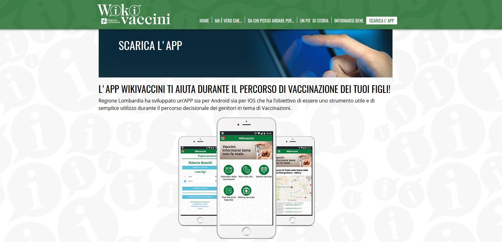 Calendario Vaccinazioni Lombardia.Regione Lombardia Lancia Wikivaccini La App Che Guida Le