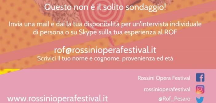 Il Rossini Opera Festival intervista il pubblico via Skype