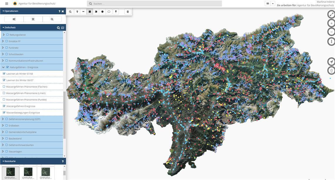 La protezione civile di Bolzano aggiorna i propri strumenti web