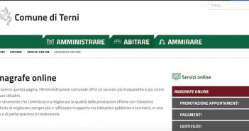 Il Comune di Terni attiva i servizi di anagrafe on line per evitare le code agli sportelli