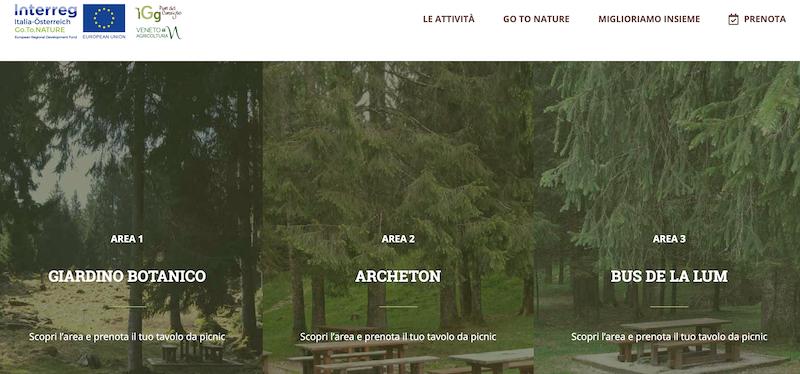 Parco del Cansiglio, nuovo sito web per prenotare on line il tavolo nelle aeree da picnic