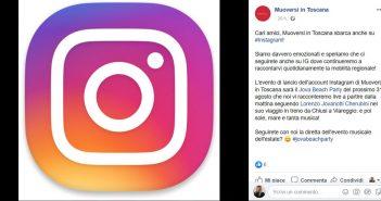 Muoversi in Toscana si prepara a sbarcare su Instagram