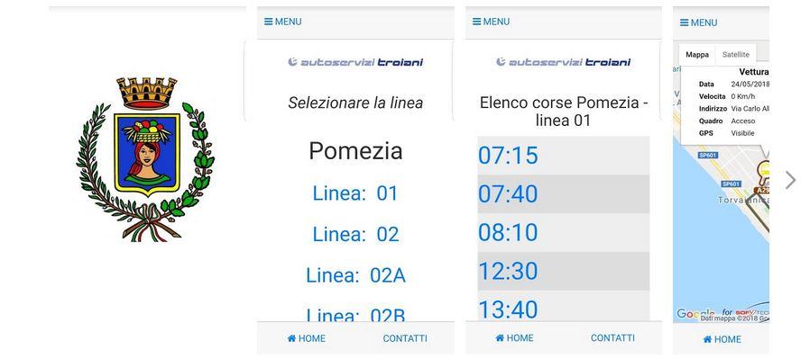 Pomezia, il trasporto scolastico a portata di app