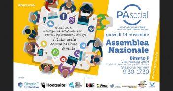 Il 14 novembre a Roma l'assemblea nazionale PA Social