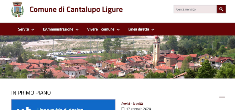 E' on line il nuovo sito del Comune di Cantalupo Ligure: smart e con un design più funzionale