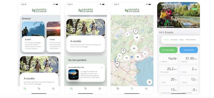 """Nasce """"Veneto Outdoor"""", la nuova app per organizzare la propria vacanza"""
