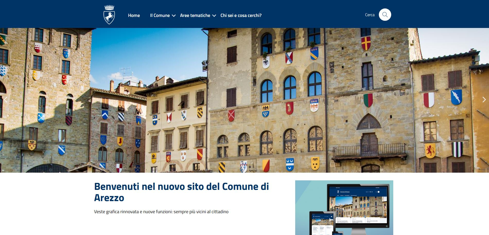 Online il nuovo portale del Comune di Arezzo