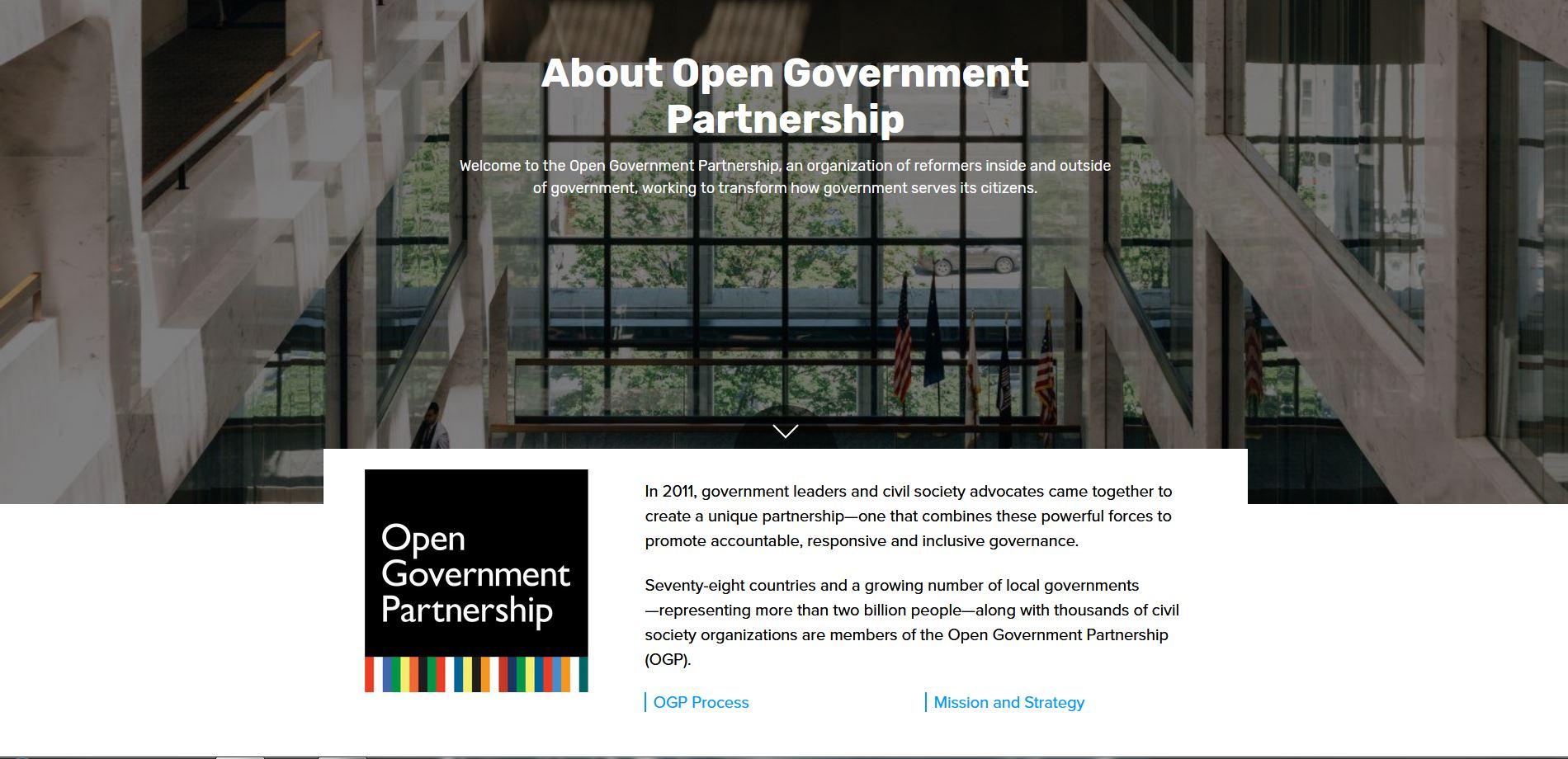 L'Italia è il Paese più votato per un nuovo mandato nel comitato direttivo Open Government Partnership