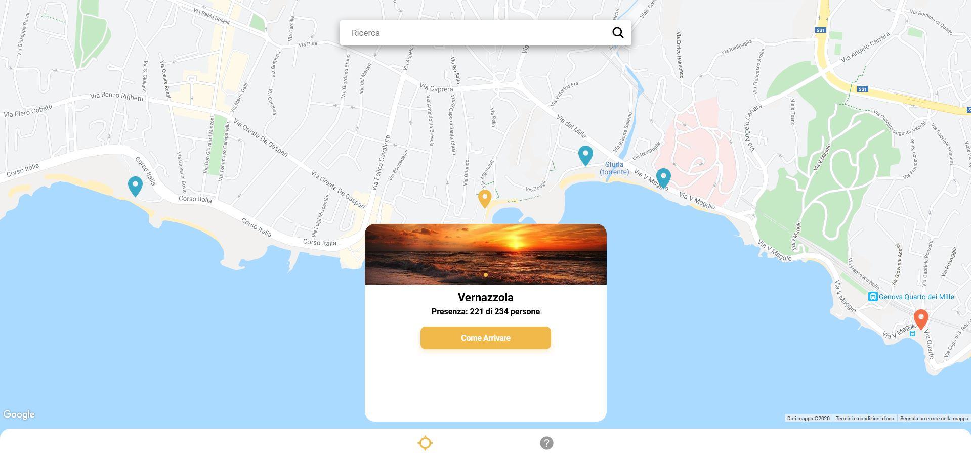 Genova, la app SpiaggiaTi aggiorna in tempo reale sui posti disponibili nelle spiagge libere