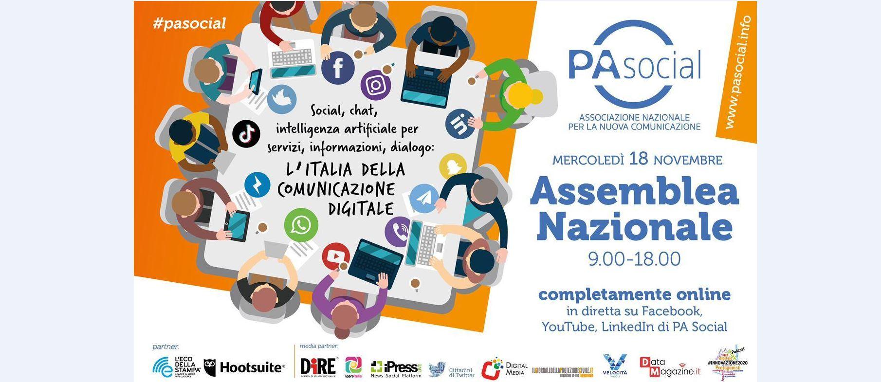 Save the date: mercoledì 18 novembre è in programma l'Assemblea nazionale di PA Social