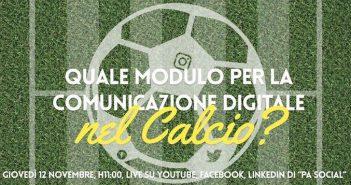 La comunicazione digitale nel mondo del calcio: se ne parla il 12 novembre nel Digital Lab di PA Social