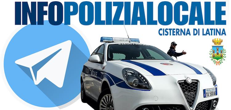 La Polizia Locale di Cisterna Latina sbarca su Telegram