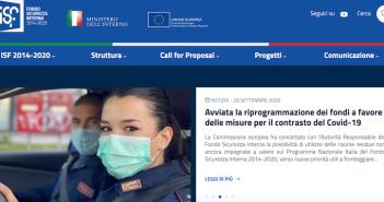 E' on line il nuovo sito web per il Fondo Sicurezza Interna 2014-2020 del Ministero dell'Interno